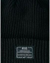 Nike Black Fisherman Beanie Hat for men