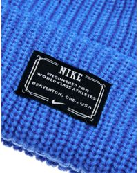 Nike Blue Fisherman Beanie Hat for men