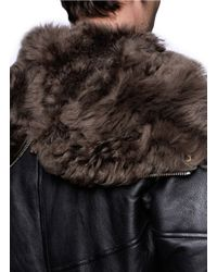 Paul Smith Black Shearling Lined Leather Jacket for men