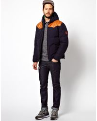 Penfield Blue Balvant Hooded Insulated Jacket for men