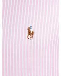 Polo Ralph Lauren Pink Long Sleeved Bengal Stripe Shirt for men