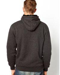 Quiksilver Gray Zip Hoodie for men