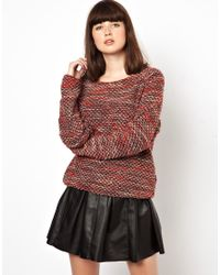 Sessun | Brown Boucle Knit Sweater | Lyst