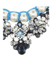 Shourouk | Blue Marisa Montana Embellished Necklace | Lyst