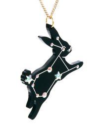 Tatty Devine - Black Sky Rabbit Necklace - Lyst