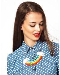 ASOS - Red Tatty Devine Rainbow Necklace - Lyst