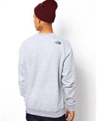 The North Face Gray Drew Peak Crew Neck Sweatshirt for men