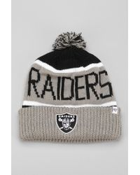Urban Outfitters Gray 47 Brand Calgary Oakland Raiders Beanie for men