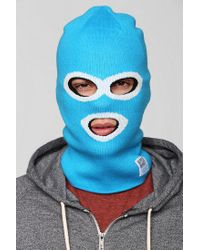 Urban Outfitters Blue Wesc Superblast Facemask Beanie for men