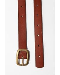 Urban Outfitters Brown Bdg Skinny Leather Belt for men