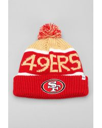 Urban Outfitters Red 47 Brand Calgary San Francisco 49ers Beanie for men
