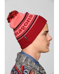 Urban Outfitters Red Patagonia Powder Town Beanie for men