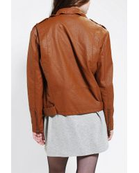 Urban Outfitters Brown Silence Noise Moto Jacket
