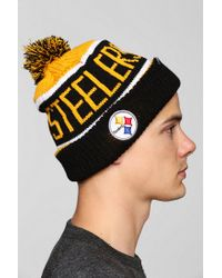 Urban Outfitters Yellow 47 Brand Calgary Pittsburg Steelers Beanie for men