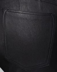 Vince Black Jeans Moto Skinny Leather