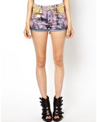 Vivienne Westwood Anglomania Purple Vivienne Westwood Anglomania For Lee Shorts in Hippie Pink