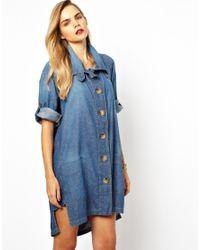 Vivienne Westwood Anglomania Blue Vivienne Westwood Anglomania For Lee Shirt Dress