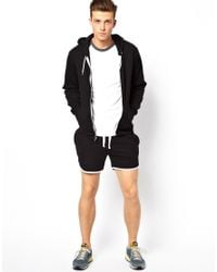 Nudie Jeans Black Asos Jersey Shorts in Short Length for men