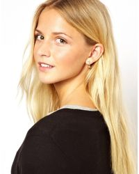 ASOS - Metallic Mini Heart Swing Earrings - Lyst