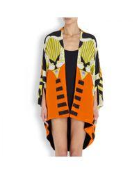 Camilla Orange Sands Of Egypt Printed Silk Kaftan