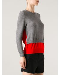 Cedric Charlier Gray Double Layer Sweater