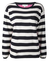 Chinti & Parker Blue Chinti and Parker Sailor Stripe Pocket Sweater