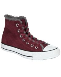Converse Purple Chuck Taylor All Star Warm Hightop Trainers