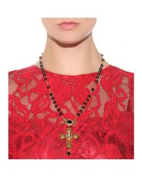 Dolce & Gabbana Metallic Goldplated Beaded Necklace