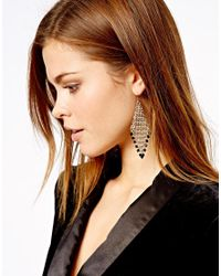 French Connection - Metallic Chainmail Bead Drop Earrings - Lyst