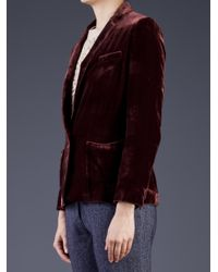 Giada Forte Red Notched Lapel Jacket