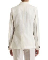 Giada Forte - White Single Breasted Blazer - Lyst