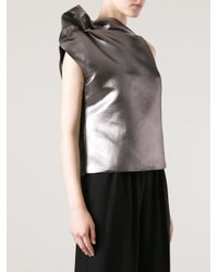 Giorgio Armani Metallic One Shoulder Top