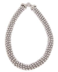 Giorgio Armani | Metallic Embellished Necklace | Lyst