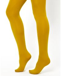 Fred Perry Yellow Gipsy 100 Denier Tights