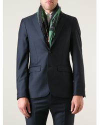 Givenchy Green Rottweiler Print Scarf for men