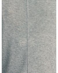 Jigsaw Gray Knit Polo Neck Top