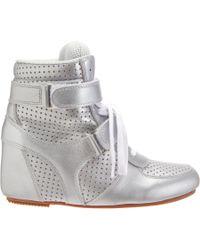 Junya Watanabe Metallic Perforated Wedge Sneaker