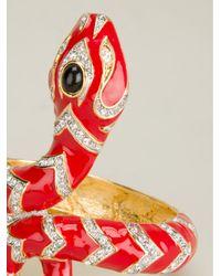 Kenneth Jay Lane Red Snake Bracelet