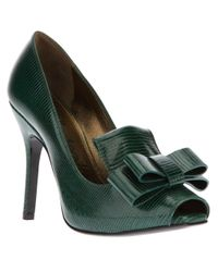 Lanvin Green Richelieu Pump