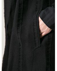 Lost & Found Black Asymmetric Coat