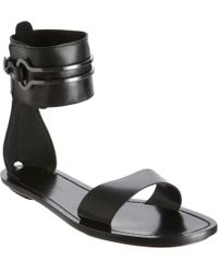 Maiyet Black Ankle Cuff Sandal