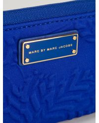 Marc By Marc Jacobs Blue Floral Embossed Wallet