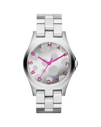 Marc By Marc Jacobs Metallic Polka Dial Stainless Steel Watch