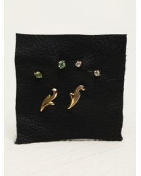 N/a | Green Tiny 6 Pack Studs | Lyst