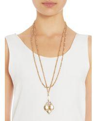 Olivia Collings - Metallic Gold Triple Locket Necklace - Lyst
