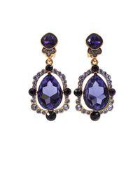 Oscar de la Renta   Purple Pear Cut Drop Earrings   Lyst