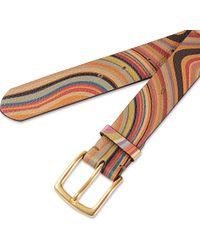 Paul Smith Multicolor Psychedelic Swirl Belt
