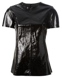 Peachoo + Krejberg Black Leather T shirt