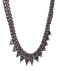 ASOS - Metallic Pieces Freya Triangle Necklace - Lyst