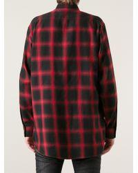 Saint Laurent Red Plaid Shirt for men